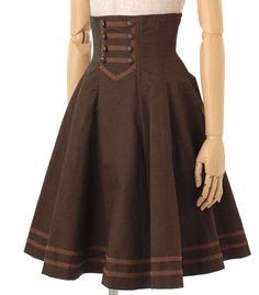 High wasted steam punk Lolita skirt