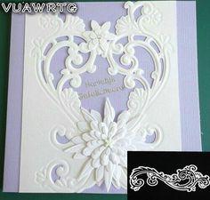 VUAWRTG Vintage Flower Borders Metal Cutting Dies Stencils for DIY Scrapbooking/photo album Decorative Embossing DIY Paper Card