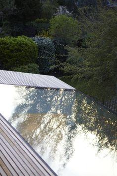 flush, frameless rooflight - rear extension - Finchley, London - Evonort
