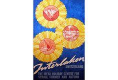 Interlaken Sunflower Poster