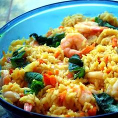 Curry Rice with Shrimp