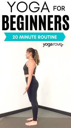 20 Minute beginner yoga routine that is simple for any beginner to start. Learn yoga the best way and start here. I love this routine! Yoga For Beginners Flexibility, Yoga Routine For Beginners, Learn Yoga, How To Do Yoga, Morning Yoga Flow, Yoga At Home, Vinyasa Yoga, Beginner Yoga, Facon