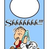 Shhh Snoopy and Charlie Brown Sleeping Door Hanger check out www.freeprintable.com for content to print directly from your home computer/printer. We have greeting cards, birthday cards, thank you cards, invitations, calendars, school worksheets, school activities, coloring pages, quotes, and much more!