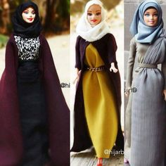 """""""Which one is your favorite look? Cool style from @hijarbie  Find more cute combinations on alahijab.com  #alahijab #hijabfashion #modestfashion"""""""