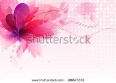 Flower  background brochure template.Vector design . - stock vector