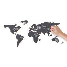 Luckies Wereldkaart - Krijt
