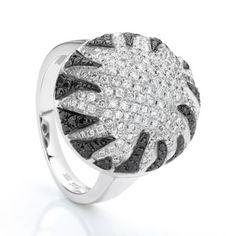 Black diamond domed ring #Belloria