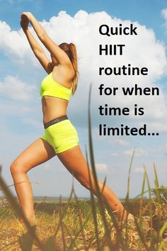 Quick HIIT workout when time is limited