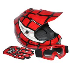 TCMT Dot Youth & Kids Motocross Offroad Street Helmet Red Spider Net Motocross Off-Road Helmet MX Goggles+Gloves L. Great and Beautiful UV protective finished,Light weight extremely durable. Well vented all purpose product for summer or winter riding Main. Sleek modular design,Flip up modular helmets. Helmet Size: Small(19.2 / 19.7 Inch),Helmet Size: Medium(20.1 / 20.5 Inch),Helmet Size: Large(20.9 / 21.2 Inch). Pacakge Included: 1x Helmet,1xHelmet Bag,1x Goggles,1xPair Gloves.