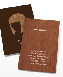 Preview image of Business Card design 'Wood Cut Elegance'