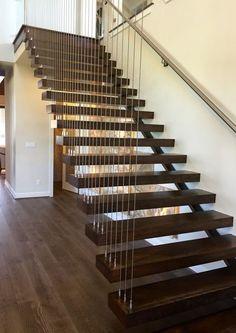 Modern floating staircase. www.askshan.com #askshan #vistancia