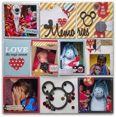"""#papercraft #scrapbook #layout #Disney Pocket Page using Simple Stories """"Say Cheese"""""""