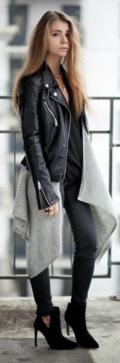 Grey Waterfall Cardigan This outfit is perfect
