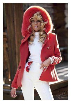 {via Linny Le Loo | 26 Nov 2011 } candice swanepoel, editorial, fashion, november 2011, ski bunny, v magazine, winter
