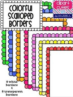 Cute and Colorful Scalloped Borders- only $1.00! Great to use with all of your products! :)