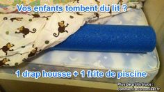 Pour éviter que vos enfants tombent du lit Baby Boom, Useful Life Hacks, Cool Kids, Parenting, Cleaning, Education, Diy, Eh Bien, Visualisation