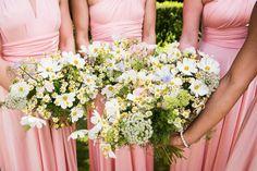 Bridesmaid Bouquets Flowers Seasonal UK Pretty White Summer Informal Wedding http://www.jessicagracephotography.com/