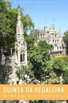 Conhecendo a Quinta da Regaleira em Sintra, Portugal. Um dos lugares imperdíveis em Sintra. Saiba o que ver na Quinta da Regaleira. Pontos turísticos de Sintra, em Portugal. #sintra #portugal