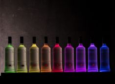 Design your system individually and in detail according to your ideas. Whether elegant and simple, strikingly colorful, static or dynamic – with BottLED® your creativity knows no boundaries.  #bar #spirits #cocktails #lighting #led #bottles #bardesign #bottled