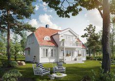 Sørlandshus, Valmtak, Kinavipp, Buet vindu