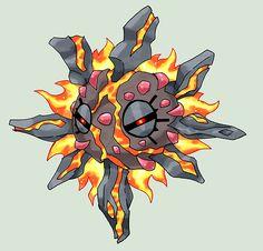 Mega Solrock Rock / Fire