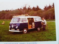 Our Gamily Devon VW Campervan In Ireland Dad Painted It Blue 1978