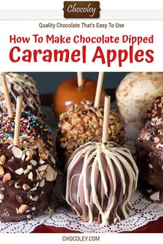 How To Make Chocolate Dipped Caramel Apples Recipe. Easy step-by-step recipe to … – Caramel Apple Recipes & Ideas – Recipe Cupcakes, Gourmet Caramel Apples, Chocolate Caramel Apples Recipe, Chocolate For Dipping, Homemade Caramel Apples, Candy Apples Recipe, Best Caramel Apple Recipe, Candy Apple Bars, Chocolate Covered Apples