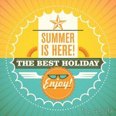 Stylish summer poster vector