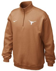 Texas Longhorns � Zip College Classic Pullover Fleece Sweat by Nike $54.95