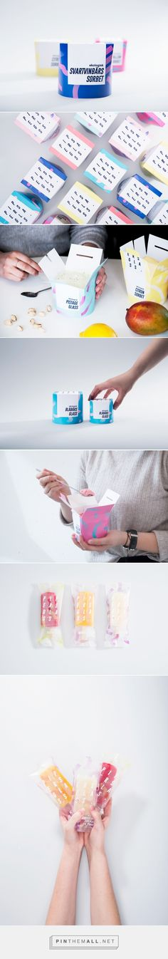 Pipersglass ice cream (concept) by Camilla Danielsson. Pin curated by #SFields99 #packaging #design