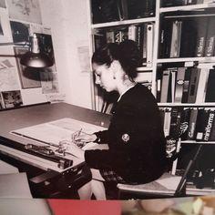 #io da #picina quando ancora la #progettazionediinterni si faceva col #tecnigrafo #spazioliberoarredadal1987