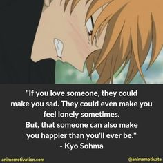 Find all the best Fruits Basket quotes available at Anime Motivation. The site for anime quotes, life lessons and inspiration! Fruits Basket Quotes, Fruits Basket Manga, Fruits Basket Cosplay, Yuki Sohma, Anime Qoutes, Best Fruits, Feeling Lonely, Cute Anime Wallpaper, Anime Life