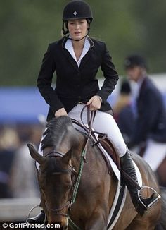 Nationally Ranked Jumper Jessica Springsteen ( you guessed it, the Boss's daughter!) at the Royal Windsor Horse Show (Pretty sure she's getting a change in this pic)