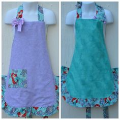 Little Mermaid Apron Little Girl Aprons Ready to by ApronStyle