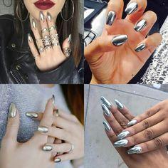 A Tendência Mirror Nails Mirror Nails, Nail Art, Makeup, Earrings, Hair, Goals, Beauty, Jewelry, New Trends