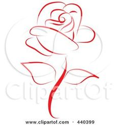 Line Design Art crosses | Royalty-Free (RF) Clip Art Illustration of a Beautiful Red Rose by ...