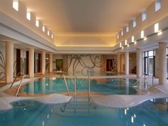Luxury indoor pool at Anazoe Spa at The Romanos hotel, Costa Navarino Greece - mkv design