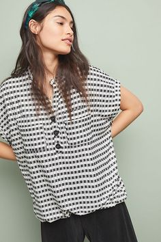 7acd5c6cdc18 Nico Gingham Top | Anthropologie Eva Franco, Work Tops, New Outfits, Polka  Dot