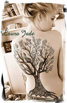 Henna Tree... I wish I was brave enough to have this tattooed on my back.