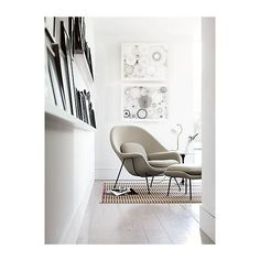 Womb™ Chair in Fabric, Black Frame ❤ liked on Polyvore featuring home, furniture, chairs, accent chairs, chair, interior, fabric furniture, fabric accent chairs, upholstery fabric furniture e upholstered chair