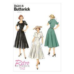 Butterick BTK 6018 E5 (14-16-18-20-22) Schnittmuster zum Nähen, Elegant, Extravagant, Modisch