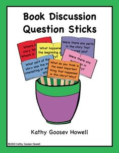 Book Discussion Question Sticks. These Book Discussion Question Sticks are a great way to develop analytical skills, expand comprehension, and increase appreciation of what has been read. $