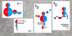 A Le Corbusier-inspired identity for a Polish architecture foundation and film festival.