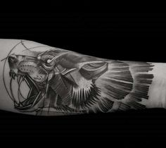 Wolf Tattoo #LuisOrellana #Germany My Arm *_* Sketch Style