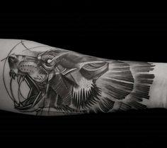 Wolf Tattoo #LuisOrellana #Germany  My Arm *_* Sketch Style