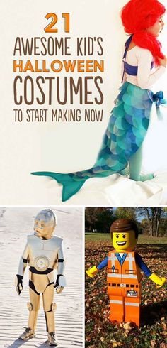 21 Awesome Kids' Halloween Costumes To Start Making Now (I'm sure you could make some of these for grown ups too!)