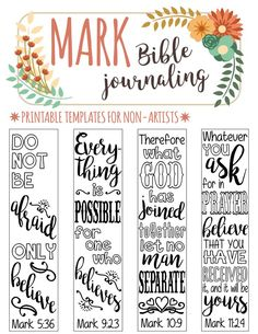 MARK - printable Bible journaling templates for non-artists. Just PRINT & TRACE!