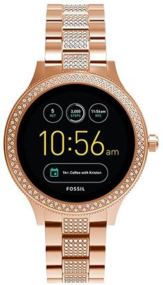 Amazon.com: Fossil Gen 3 Smartwatch - Q Venture Rose Gold-Tone Stainless Steel FTW6008: Watches