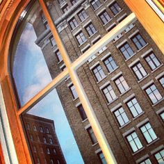 Looking out over Monroe Center, downtown Grand Rapids.