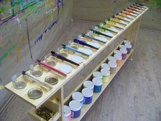 Art Classroom, Art Studios, Kids Playing, Playroom, Art For Kids, Reggio, Wood, Diy, Garden Decorations